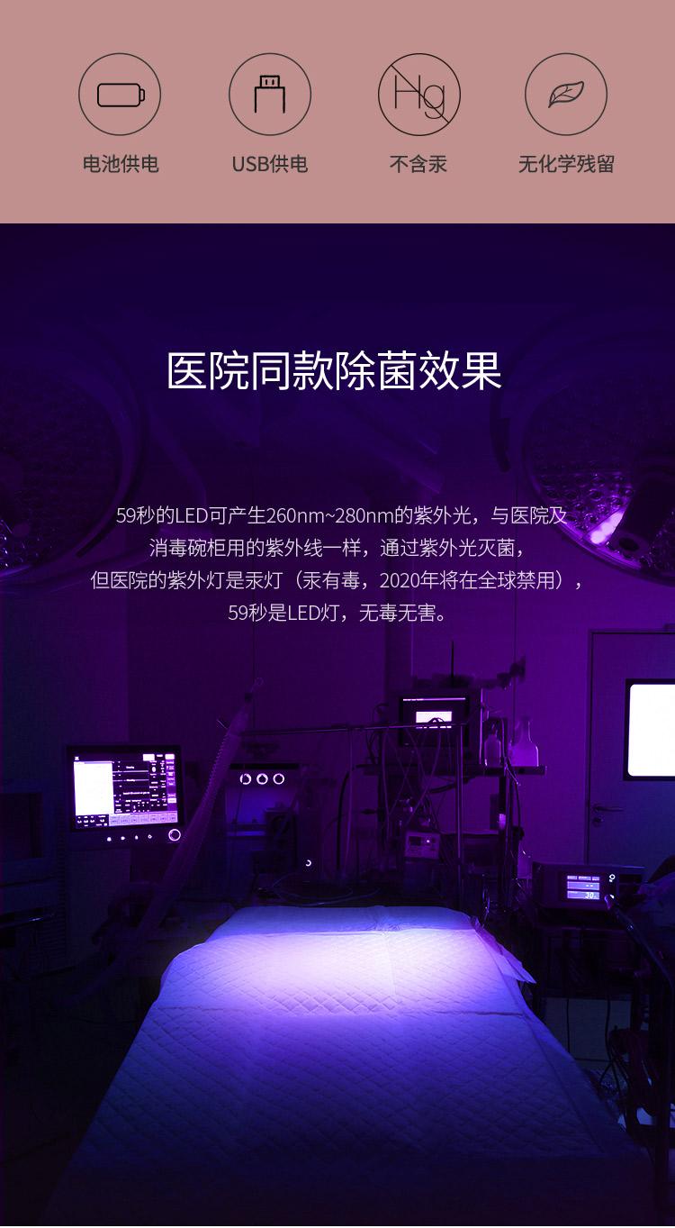 紫外线耳钉消毒盒LED消毒美妆盒方便携带广大女性生活必备消毒